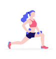woman doing physical exercises with dumbbells vector image vector image
