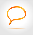 Oval orange speech bubble made from bended lines vector image