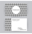 Business Card Line Art Diamond Background vector image