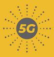 5g wireless mobile internet standard flat emblem vector image vector image