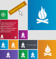 A fire icon sign buttons Modern interface website vector image vector image