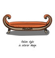 a small sofa without a backrest with armrests a vector image vector image