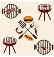bbq labels set and design elements vector image vector image