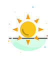 beach shinning sun abstract flat color icon vector image