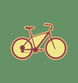 bicycle bike sign cordovan icon and vector image vector image