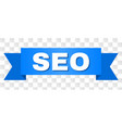 blue tape with seo title vector image