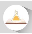 book open laboratory concept school graphic vector image vector image