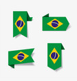 brazilian flag stickers and labels vector image vector image