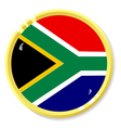 button with flag South Africa vector image vector image