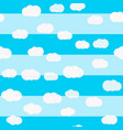 clouds seamless pattern sky design kids vector image vector image
