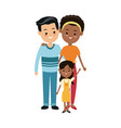 cute family multiracial happy relation image vector image vector image