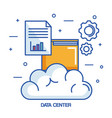 data center cloud file archive document vector image vector image