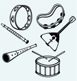 Different music instruments vector image