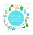 Earth Ecology Design vector image vector image