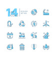 ecology - set line design style icons vector image
