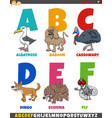 educational cartoon alphabet collection with vector image vector image