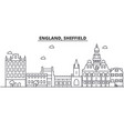 england sheffield architecture line skyline vector image vector image