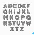 fingerprint alphabet letters vector image vector image