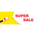 flat megaphone with a cloud for announcement sign vector image vector image