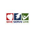 give serve live vector image