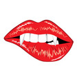 glamour vampire lips vector image vector image
