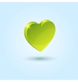 Green favorites icon vector