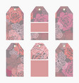 hand drawn creative tags u vector image vector image