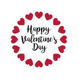 happy valentines day with glitter hearts vector image