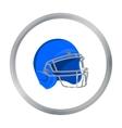 Helmet icon cartoon Single sport icon from the vector image