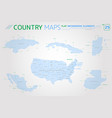 honduras mexico cuba united states belize and vector image vector image