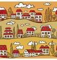 Houses on Street vector image