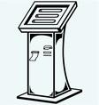 Interactive information kiosk vector image vector image