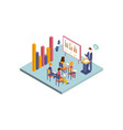 isometric of business vector image