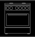 kitchen stove the white path icon vector image