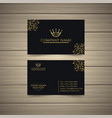 latest gold business card vector image vector image