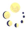 Loading process circular icon cartoon style vector image vector image