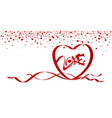 love concept of red heart shape ribbon vector image