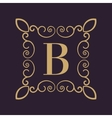 Monogram letter B Calligraphic ornament Gold vector image
