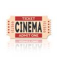 movie ticket vintage retro style set 1 vector image vector image