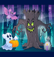 mysterious forest theme image 2 vector image vector image