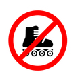 No roller Prohibiting sign vector image vector image