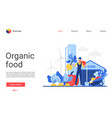 organic eco food website vector image