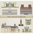 Oslo colored Landmarks vector image vector image