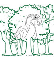 parrot in forest vector image vector image