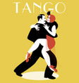 passionate couple dancing tango-03-01 vector image vector image
