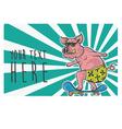 pig skater vector image vector image