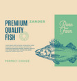 premium quality zander abstract fish vector image vector image