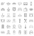 premium service icons set outline style vector image vector image