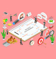 project management isometric flat vector image