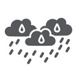 rain clouds glyph icon weather and forecast vector image